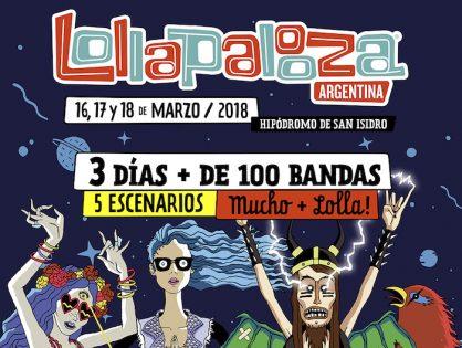 ¡El lollapalooza 2018 ya tiene line up!