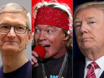 """Axl Rose: """"Tim Cook es el Donald Trump de la industria musical"""""""