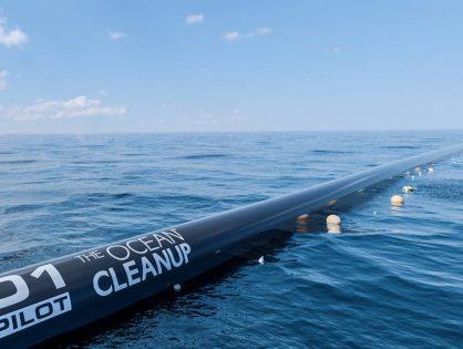 Primera máquina para limpieza masiva de océanos