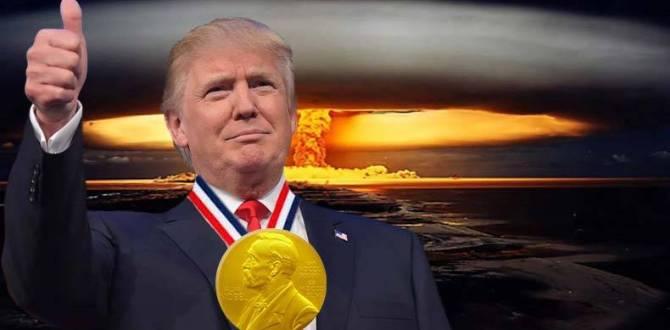 Donald Trump nominado al Premio Nobel de la Paz
